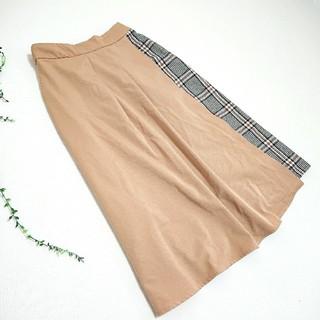 イッカ(ikka)のikka *切替チェックラップスカート*(ひざ丈スカート)