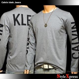カルバンクライン(Calvin Klein)の新品 カルバンクラインジーンズ L XL 背中ロゴ 袖ロゴ ロンT CK(Tシャツ/カットソー(七分/長袖))