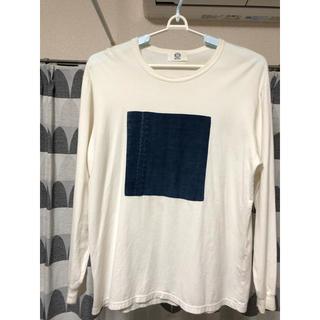 コモリ(COMOLI)のKUON  クオン  BORO BOX Tee ロンT ホワイト Lサイズ(Tシャツ/カットソー(七分/長袖))