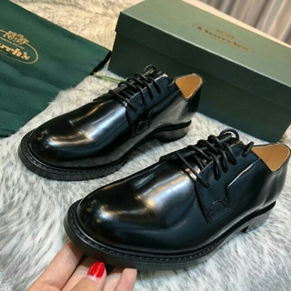 Church's - 【黒】正规品  CHURCH'S 革靴 レザーシューズ 新品 EU37