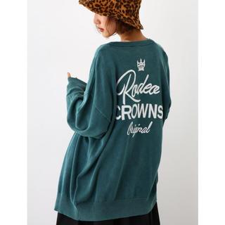 ロデオクラウンズワイドボウル(RODEO CROWNS WIDE BOWL)のRODEO CROWNS 加工ニット カーディガン(カーディガン)
