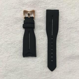 ガガミラノ(GaGa MILANO)の迅速対応 工具付き ガガミラノ 48MMラバーバンド黒色 金具金 ベルト(その他)
