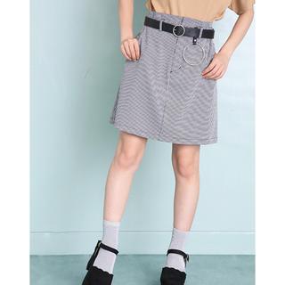ワンアフターアナザーナイスクラップ(one after another NICE CLAUP)のナイスクラップ  リングベルト付スカート(ミニスカート)
