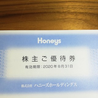 ハニーズ(HONEYS)のハニーズ Honeys 株主優待 6000円(ショッピング)