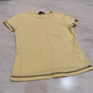 フォクシー(FOXEY)のFOXEY NEW YORK Tシャツ カットソー  イエロー 黄色 38(カットソー(半袖/袖なし))