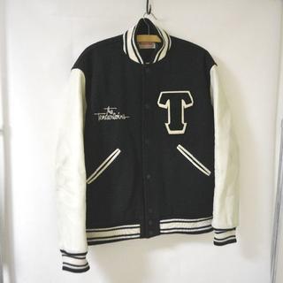 TENDERLOIN - TENDERLOIN テンダーロイン 袖レザー スタジャン 本革 XL