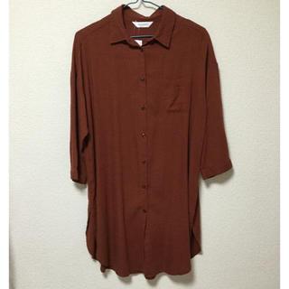 シマムラ(しまむら)の未使用 七分袖ロングシャツ(シャツ/ブラウス(長袖/七分))