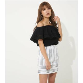 rienda - rienda ランダムストライプタイトスカート