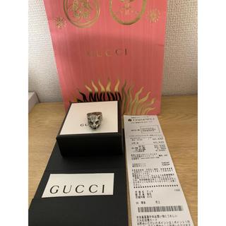 グッチ(Gucci)のGUCCI 美品 シルバー  キャット リング 16号(リング(指輪))