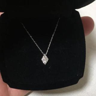 canal4℃ - 新品❤️18金 ホワイト ダイヤモンド ダイヤ型 ネックレス K18