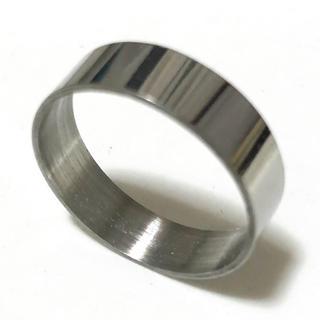 同時購入で300円 ステンレス指輪 ストレート シルバー(リング(指輪))
