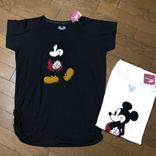 ロンハーマン(Ron Herman)の新品ディズニーミッキーLシャーリングビックTシャツロングブラック(Tシャツ(半袖/袖なし))