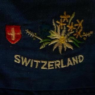 アパルトモンドゥーズィエムクラス(L'Appartement DEUXIEME CLASSE)の②スイス エーデルワイス刺繍スイスの国家の花✾ブルーホワイト(ハット)