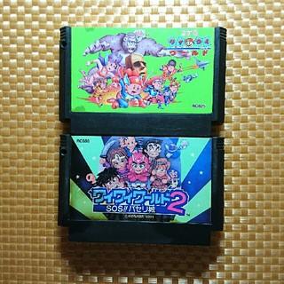 KONAMI - FC ファミコン ソフト カセット コナミワイワイワールド 2本セット 難あり