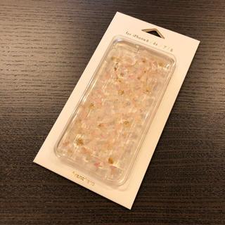 フランフラン(Francfranc)のラスト1個【新品】フランフラン iPhoneケース クリア ピンク 花 フラワー(iPhoneケース)