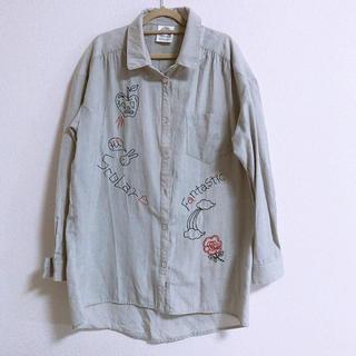 スカラー(ScoLar)のスカラー 刺繍 ロングシャツ(シャツ/ブラウス(半袖/袖なし))