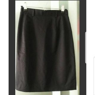 シップス(SHIPS)の【未使用】シップス  スカート 9号 黒(ひざ丈スカート)