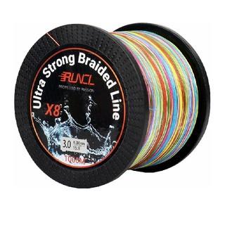 ランケル(RUNCL)高強度 PEライン 釣り糸 8編5色0.8号1000m(釣り糸/ライン)