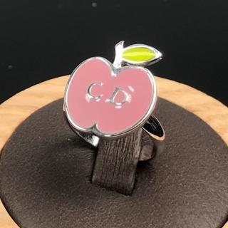 クリスチャンディオール(Christian Dior)の美品 クリスチャン ディオール ピンク アップル リング ZM148(リング(指輪))