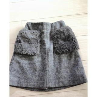 GU - GU 女の子 ファーポケット スカート   140cm
