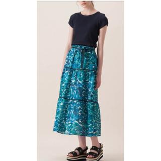 バーバリーブルーレーベル(BURBERRY BLUE LABEL)の《新品》ブルーレーベルクレストブリッジ マキシスカートBL(ロングスカート)