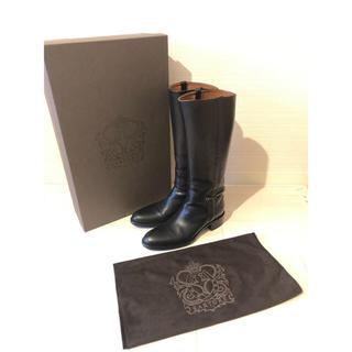 サルトル(SARTORE)の美品 サルトル ジョッキーブーツ黒 38 付属品あり(ブーツ)