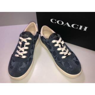 コーチ(COACH)の7コーチ◆FG3762靴スニーカーシューズシグネチャーデニム紺系 8B 25cm(スニーカー)
