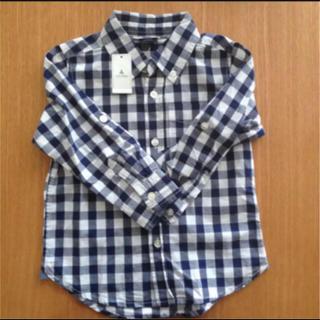 ベビーギャップ(babyGAP)の新品☆babyGap  長袖チェックシャツ 100(ブラウス)