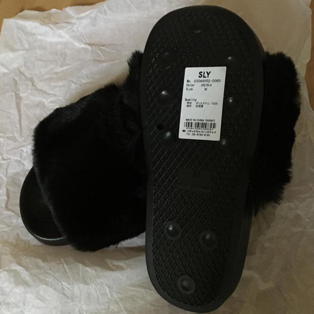 SLY(スライ)のSLY  ノベルティ ファーサンダル レディースの靴/シューズ(サンダル)の商品写真