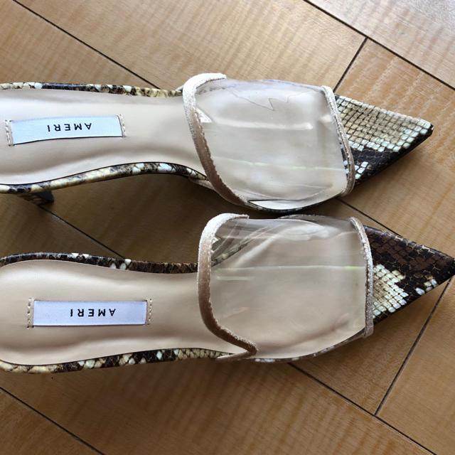 Ameri VINTAGE(アメリヴィンテージ)のクリアミュール レディースの靴/シューズ(ミュール)の商品写真