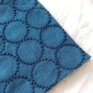 ミナペルホネン(mina perhonen)のミナペルホネン インテリアファブリック tambourine / blue(ファブリック)