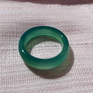 メノウリング15号 グリーンカラー 瑪瑙アゲートメンズ指輪(リング(指輪))