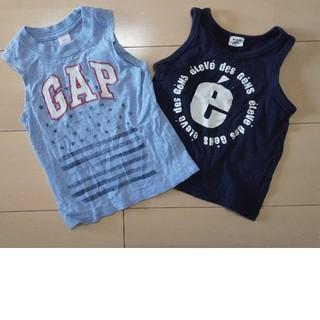 ギャップ(GAP)の男児タンクトップ2枚90cm95cm(Tシャツ/カットソー)