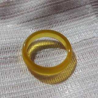 メノウリング15号 イエローカラー 瑪瑙アゲートメンズ指輪(リング(指輪))