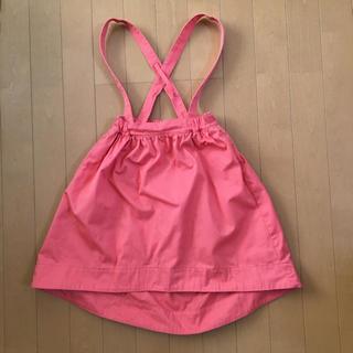 ジーユー(GU)のGU女の子吊りスカート 120㎝(スカート)