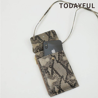 トゥデイフル(TODAYFUL)のトゥデイフル★ Python Smart phone Pochette(iPhoneケース)