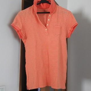 ギャップ(GAP)のGAPストライプ柄ポロシャツ(ポロシャツ)