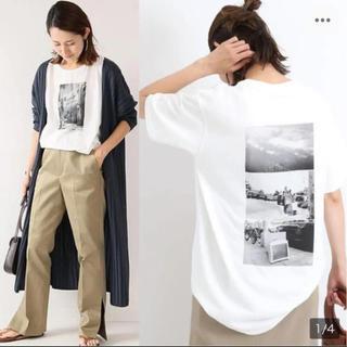 フレームワーク(FRAMeWORK)の2019年 完売 フレームワーク PHOTO Tシャツ白ホワイト フォトTシャツ(Tシャツ(半袖/袖なし))