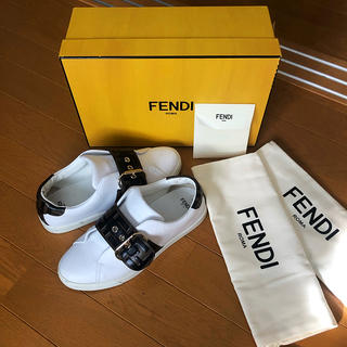 フェンディ(FENDI)のFENDI ホワイトレザー(スニーカー)