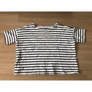 ムジルシリョウヒン(MUJI (無印良品))の無印良品 ボーダードルマンTシャツ(Tシャツ(半袖/袖なし))