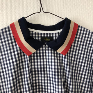 Demi-Luxe BEAMS - ギンガムチェックシャツロングワンピース