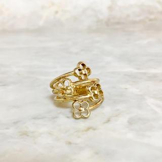 LOUIS VUITTON - 正規品 ヴィトン 指輪 フラワーフル ゴールド 花 金 M68129 リング