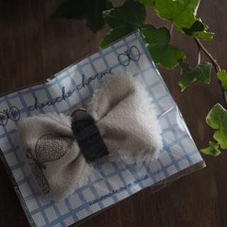 ミナペルホネン(mina perhonen)のミナペルホネン ハンドメイド チャーム 薄ピンク(チャーム)