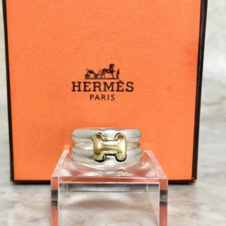 エルメス(Hermes)の正規品 エルメス 指輪 オランプ コンビ シルバー ゴールド H ロゴ リング(リング(指輪))