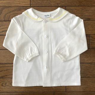 ベビーディオール(baby Dior)のbaby Dior セーラーカラーシャツ 白 80サイズ(シャツ/カットソー)