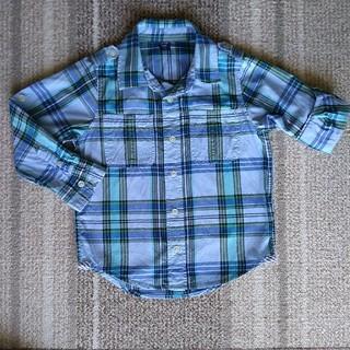 ベビーギャップ(babyGAP)の美品 Baby Gap 袖ロールアップ シャツ SIZE110(ブラウス)