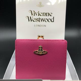 ヴィヴィアンウエストウッド(Vivienne Westwood)の【新品・正規品】ヴィヴィアン ウエストウッド 折り財布 がま口 706 ピーチ(財布)
