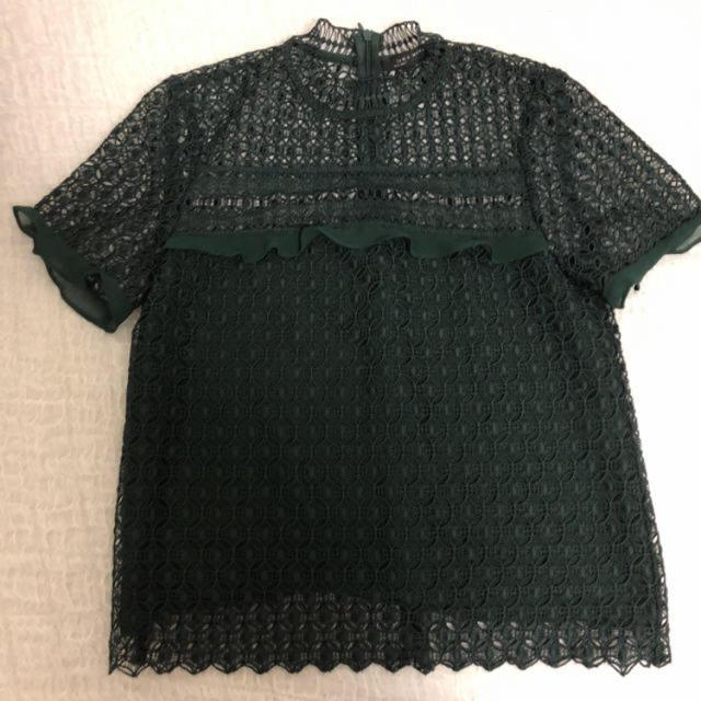 ZARA(ザラ)のZARA レーストップス レディースのトップス(シャツ/ブラウス(半袖/袖なし))の商品写真