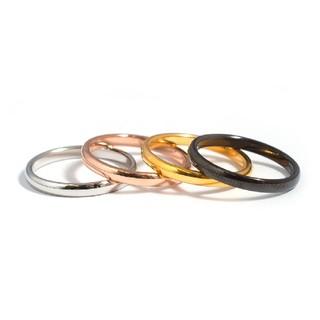 チタンステンレス ピンキーリング関節リング (リング(指輪))