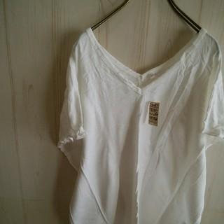 ムジルシリョウヒン(MUJI (無印良品))の新品未使用 無印良品 オーガニックコットンTシャツ フレンチスリーブ(Tシャツ(半袖/袖なし))